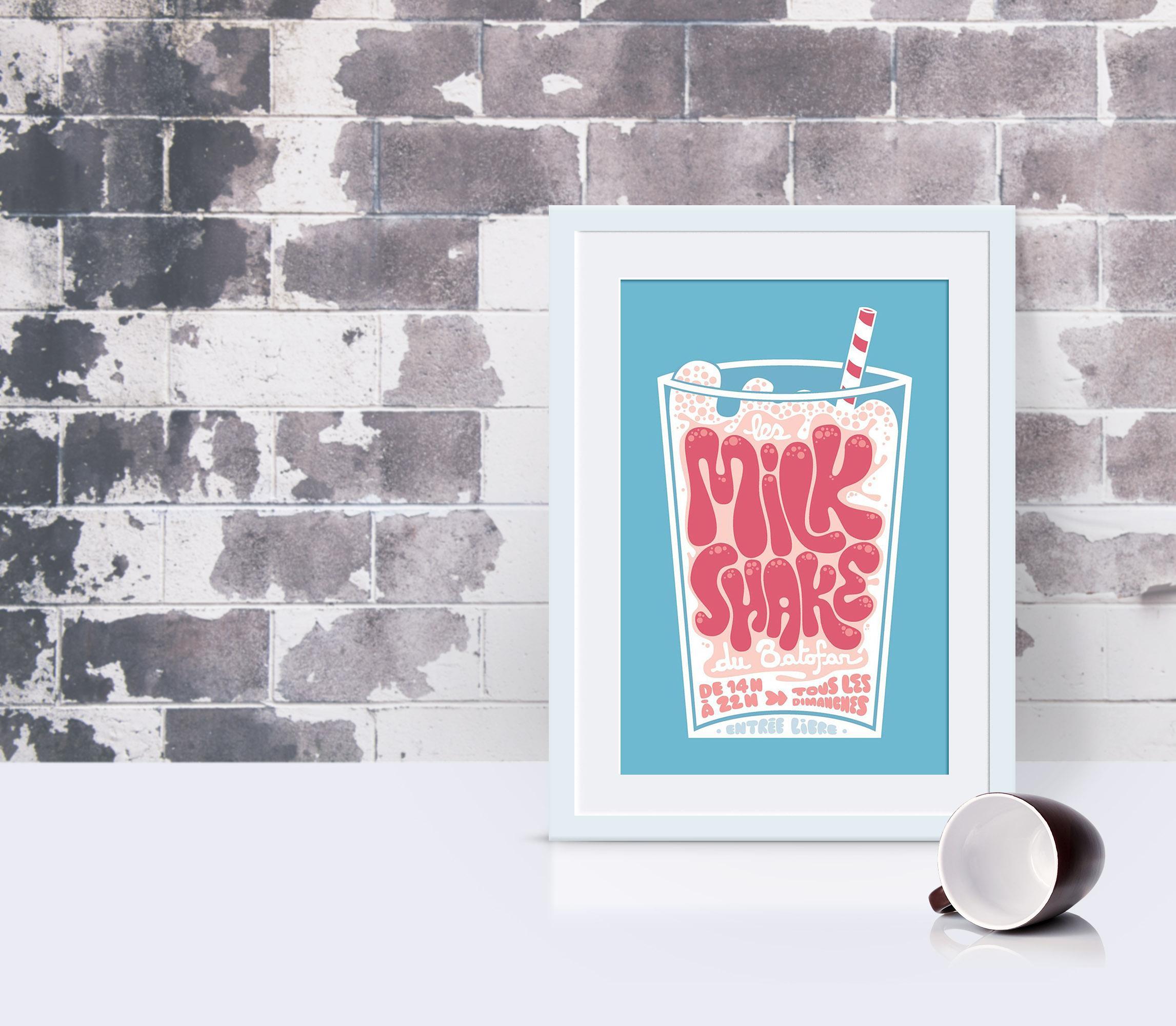 Milkshake Du Batofar Creative Event Poster Example