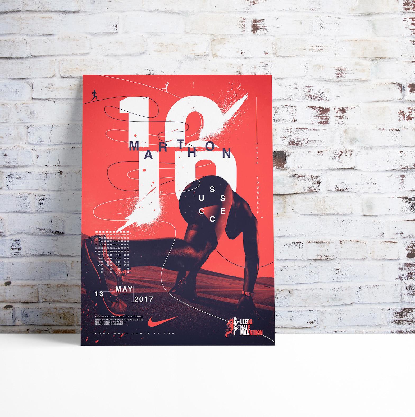 Modern Nike Marathon Event Poster Example2