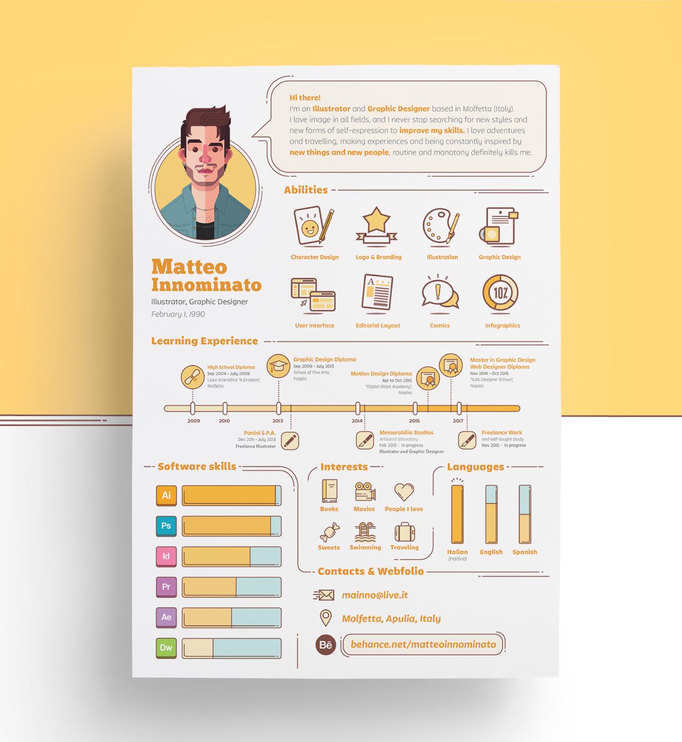 12 Creative Resume Examples Templates Ideas Daily Design Inspiration 28