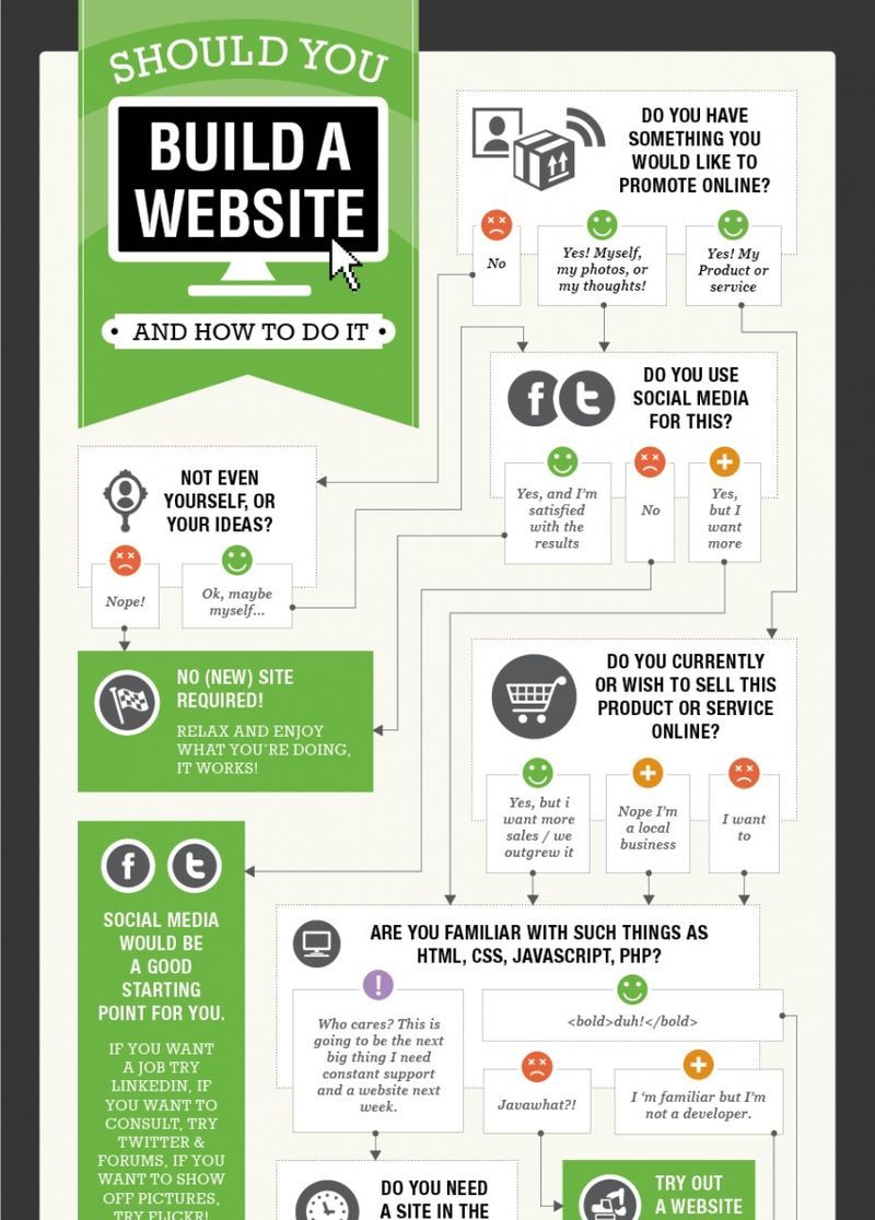 Should You Build A Website Process Infographic Example