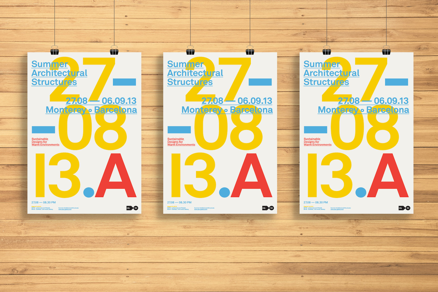 Summer Architectural Structures Event Poster Example3