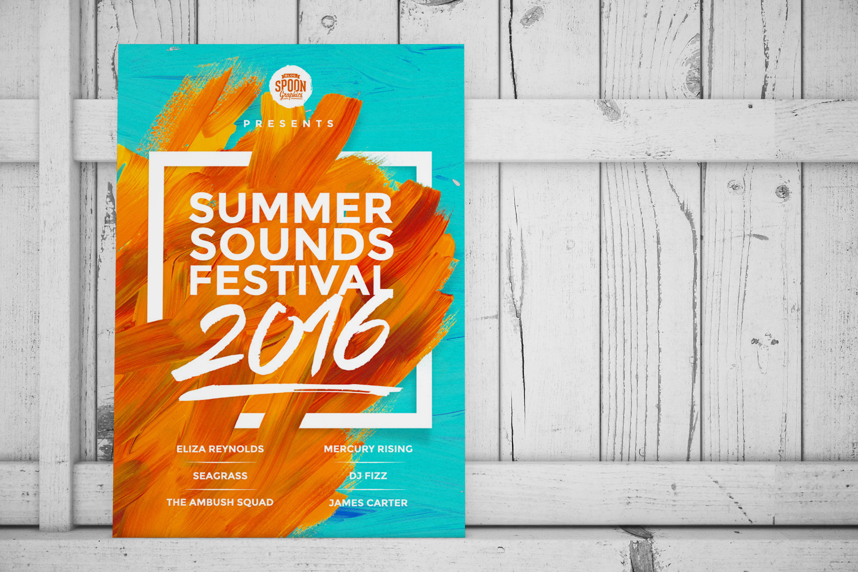 Summer Soynds Festival Event Poster Example2