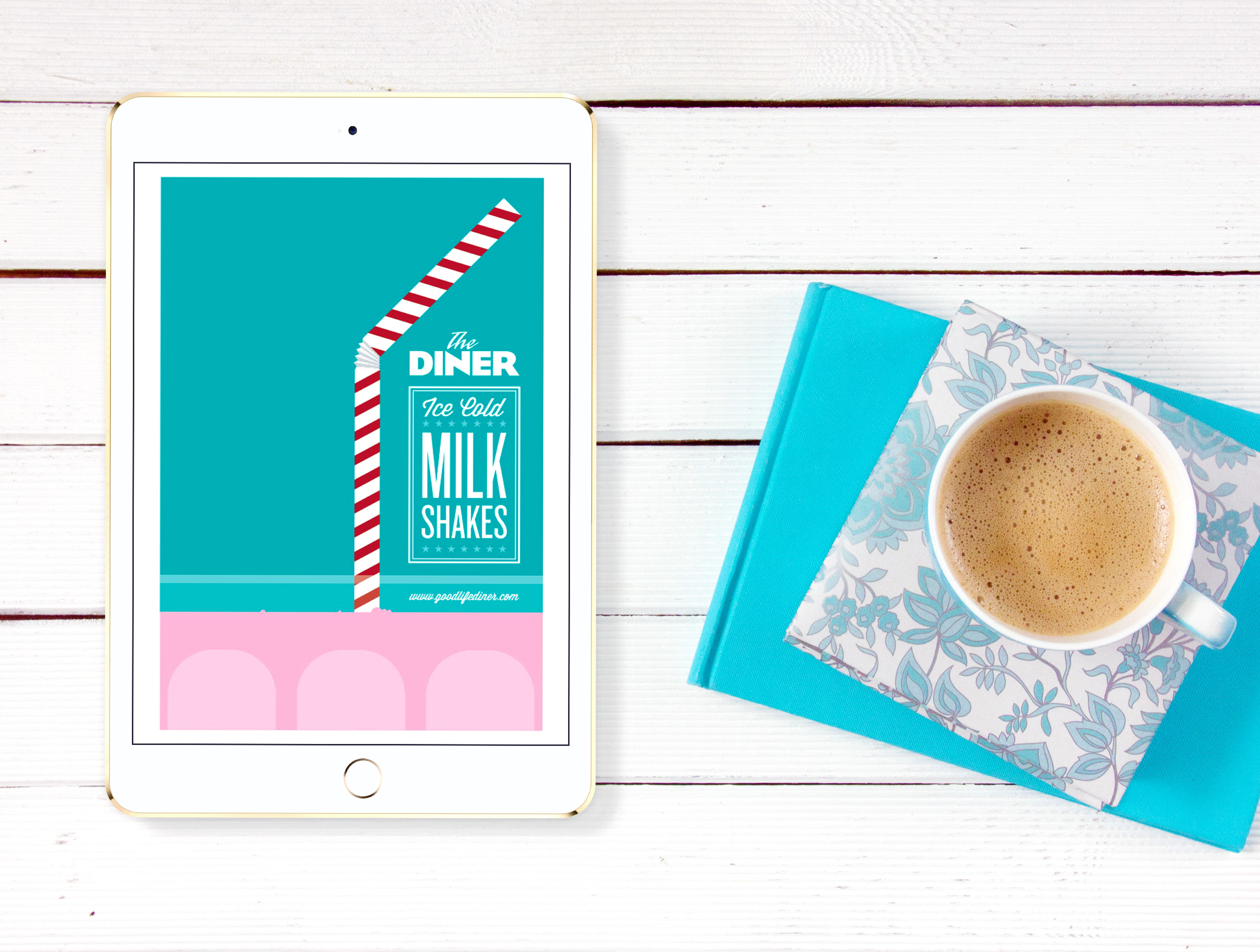 The Diner Ice Cold Milk Shake Sales Flyer Example5