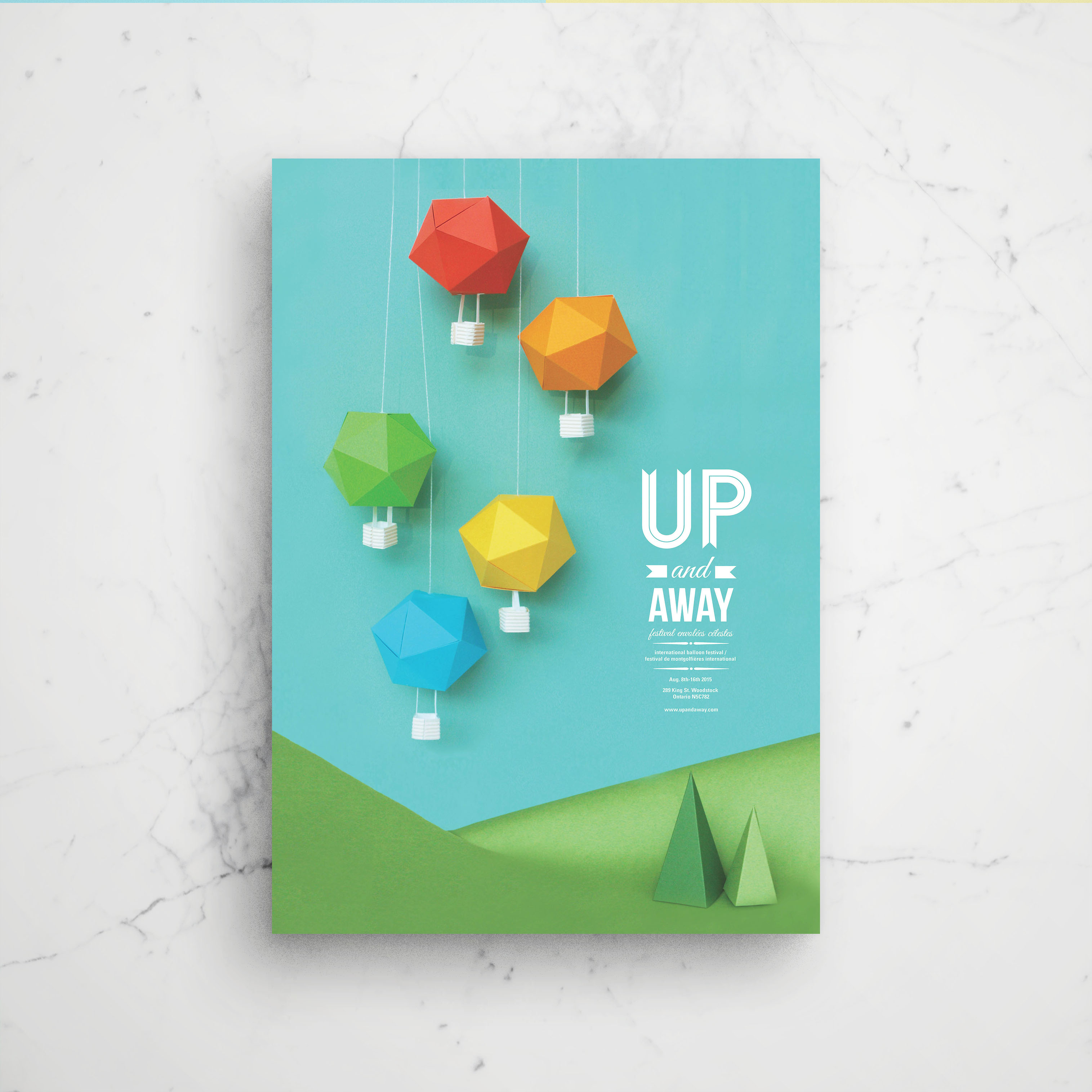 Up & Away Hand Crafted Event Poster Example