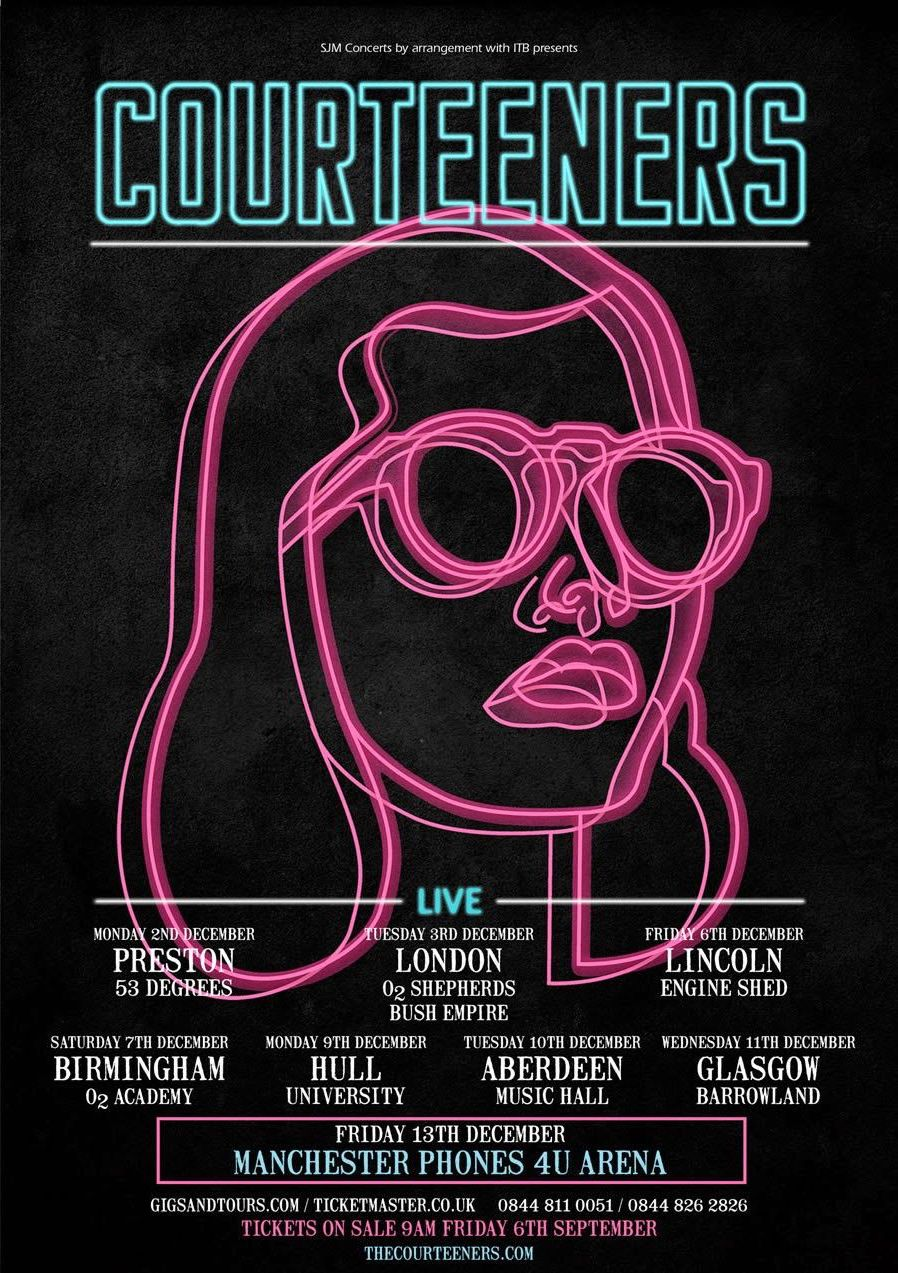 The Courteeners Concert Event Poster Example4