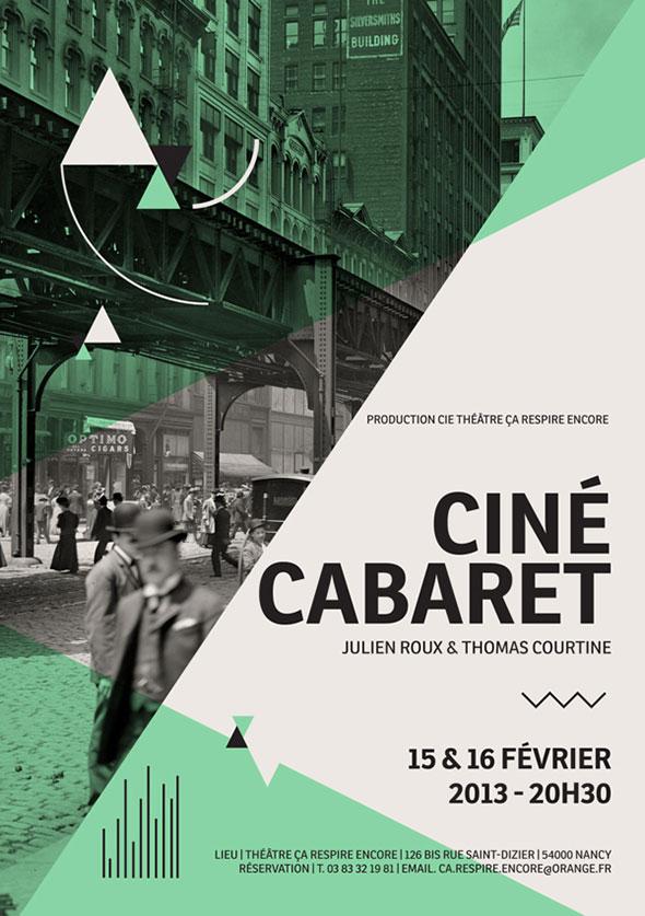 Classic Cine Cabaret Movie Poster Example