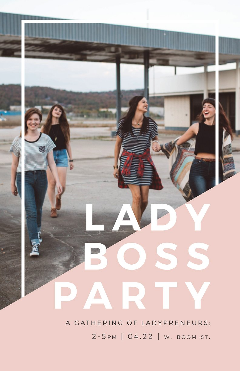 Lady Boss Party Pink Event Poster Example5