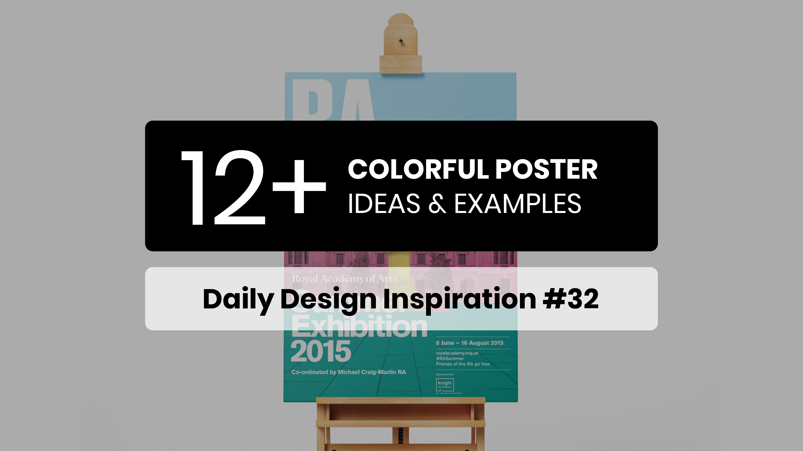 12+ Vivid & Colorful Poster Examples, Templates & Ideas – Daily Design Inspiration #32